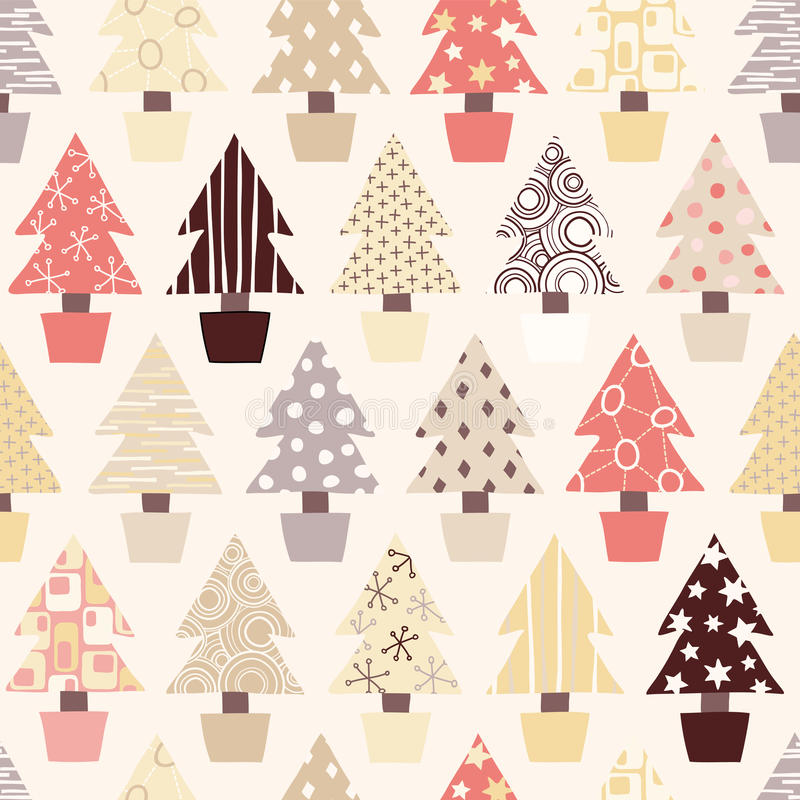 Natural Christmas Tree Background stock illustration