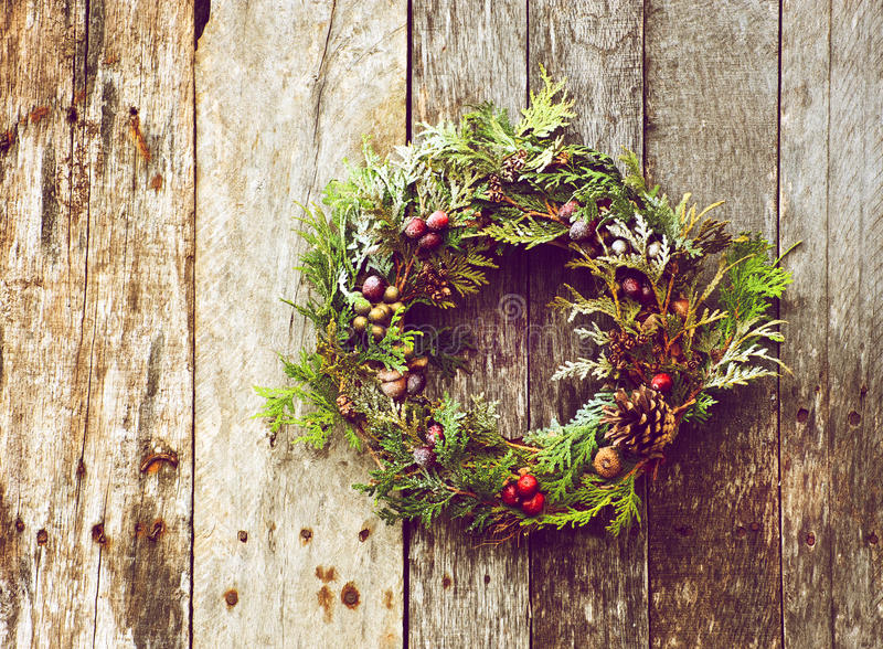 Natural Christmas wreath.