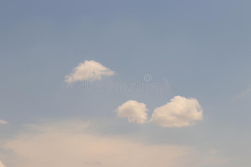 Natural clouds stock image