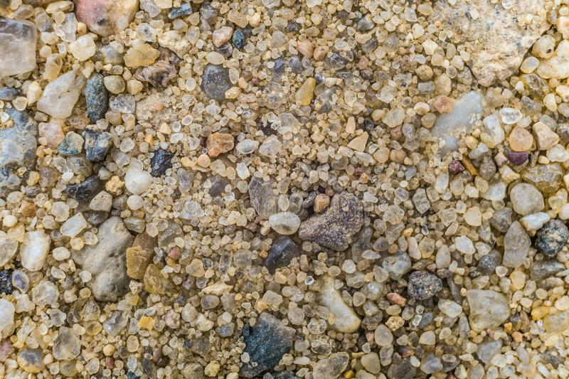 Natural coarse sand. Surface grains of sand. royalty free stock image