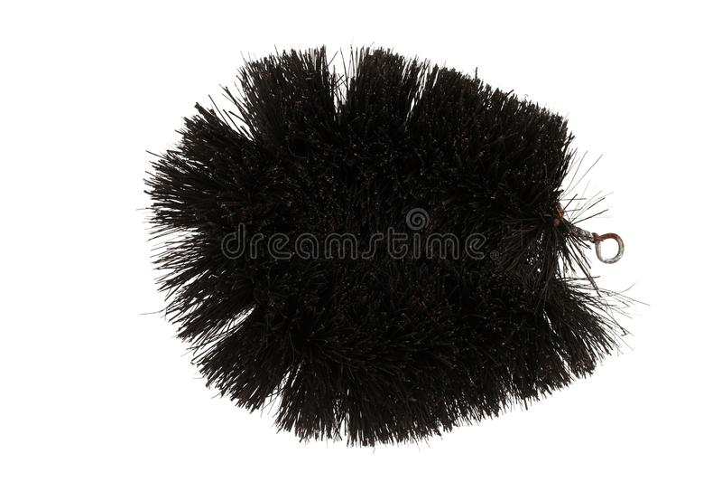 Natural Coconut Fiber Brush. stock photography
