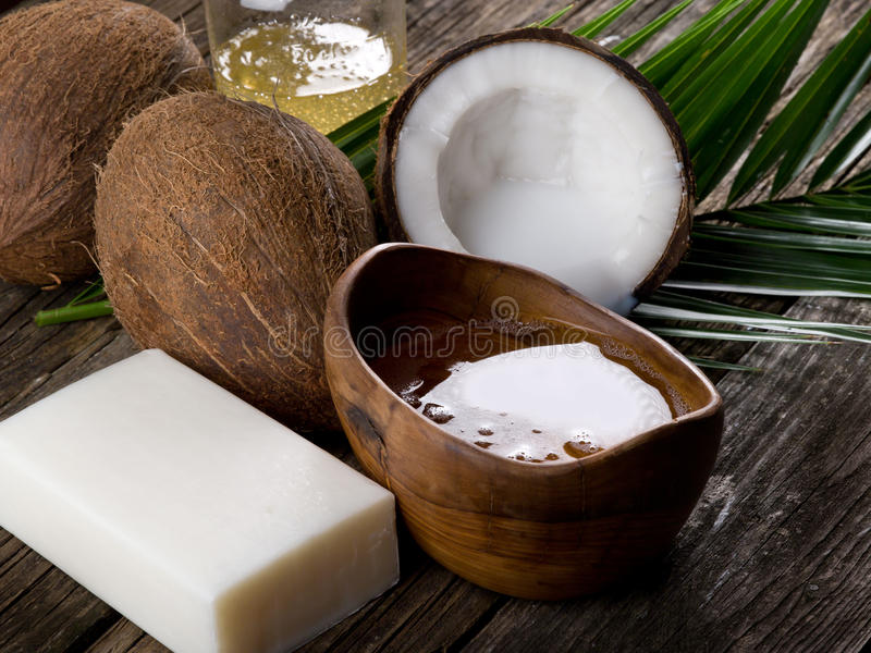 Download Natural coconut walnut oil stock photo. Image of coconuts - 19542162