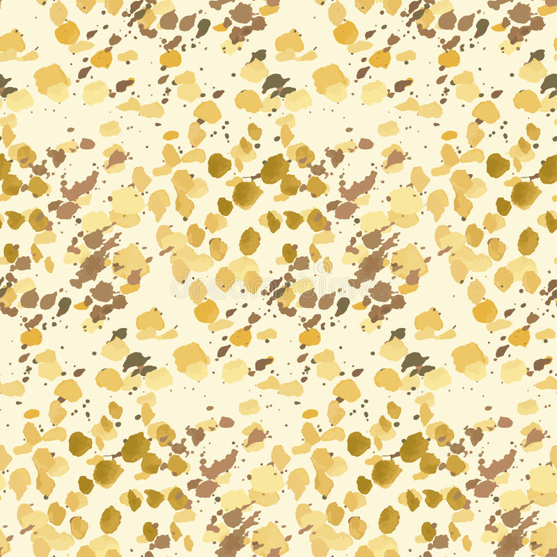 Natural color sand, mud and dirt background. Hand drawn paint spot seamless pattern royalty free illustration