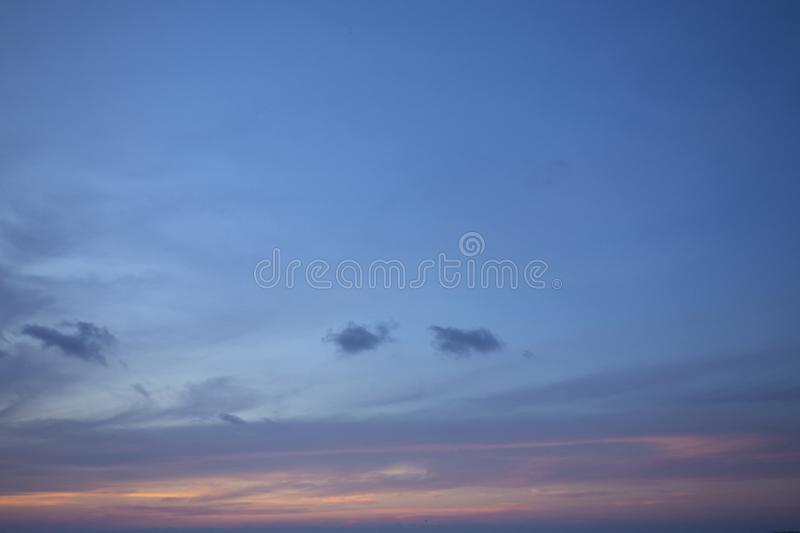 Natural colors Evening sky Shine new day  for Heaven,The light from heaven from the sky is a mystery,In twilight golden atmosphere. Modern sheet structure stock images