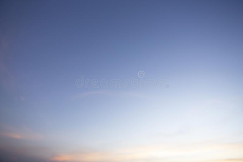 Natural colors Evening sky Shine new day  for Heaven,The light from heaven from the sky is a mystery,In twilight golden atmosphere. Natural colors Evening sky stock photography