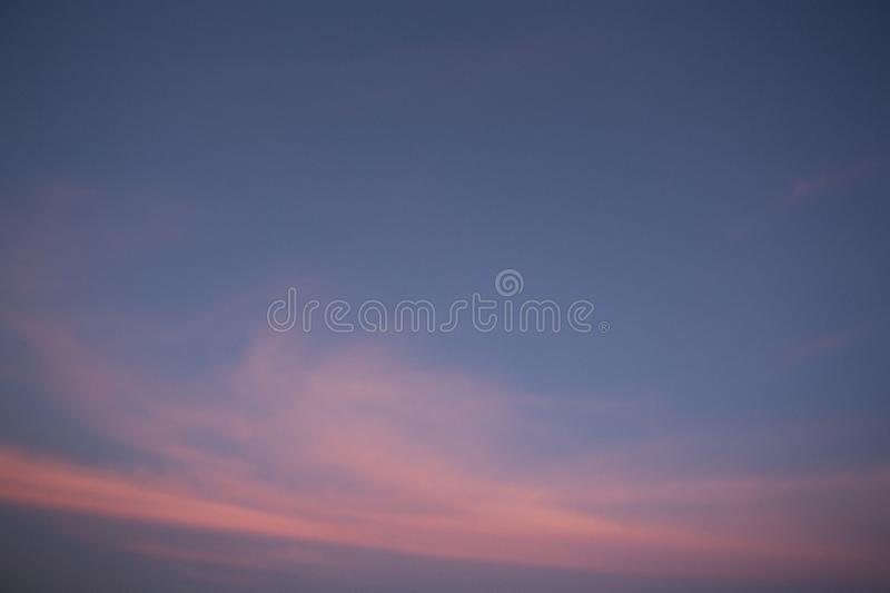 Natural colors Evening sky Shine new day  for Heaven,The light from heaven from the sky is a mystery,In twilight golden atmosphere. Natural colors Evening sky royalty free stock image