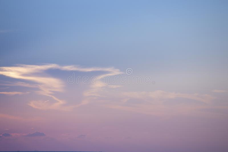 Natural colors Evening sky Shine new day  for Heaven,The light from heaven from the sky is a mystery,In twilight golden atmosphere. Modern sheet structure stock photos
