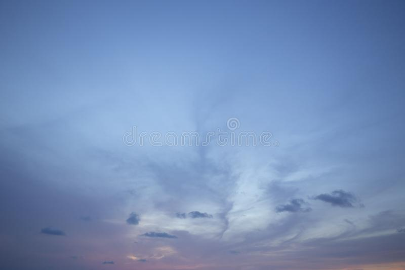 Natural colors Evening sky Shine new day  for Heaven,The light from heaven from the sky is a mystery,In twilight golden atmosphere. Modern sheet structure stock image