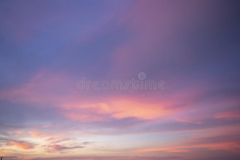 Natural colors Evening sky Shine new day  for Heaven,The light from heaven from the sky is a mystery,In twilight golden atmosphere. Modern sheet structure stock photography
