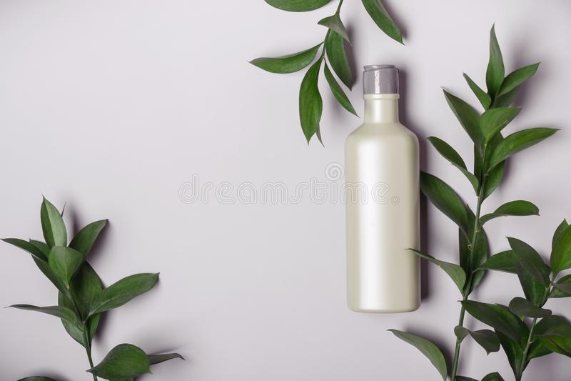 Natural Cosmetics concept. Organic product and wild herbs.  royalty free stock images