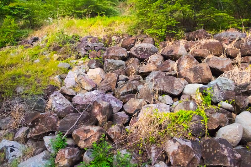 Natural Costa Rican Boulders royalty free stock image
