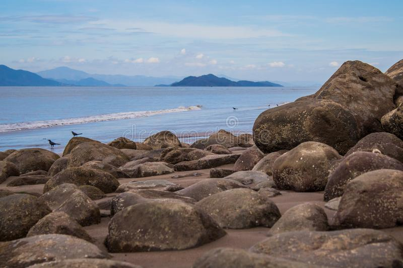 Natural Costa Rican Breakwater stock photography