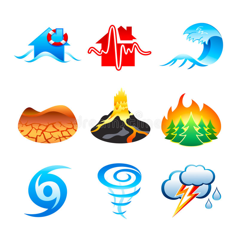 Download Natural disaster icons stock vector. Illustration of earthquake - 13198720