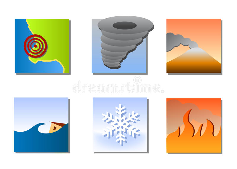 Download Natural Disasters Icons Vector Stock Vector - Image: 12744829
