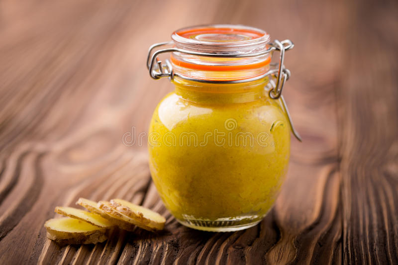 Natural diy chickpeas ginger paste royalty free stock image