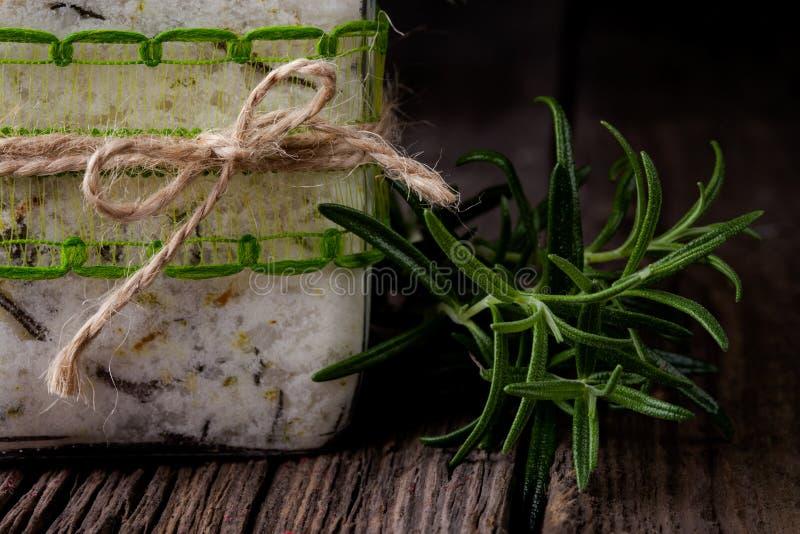 Natural diy crystal bath salt stock photos