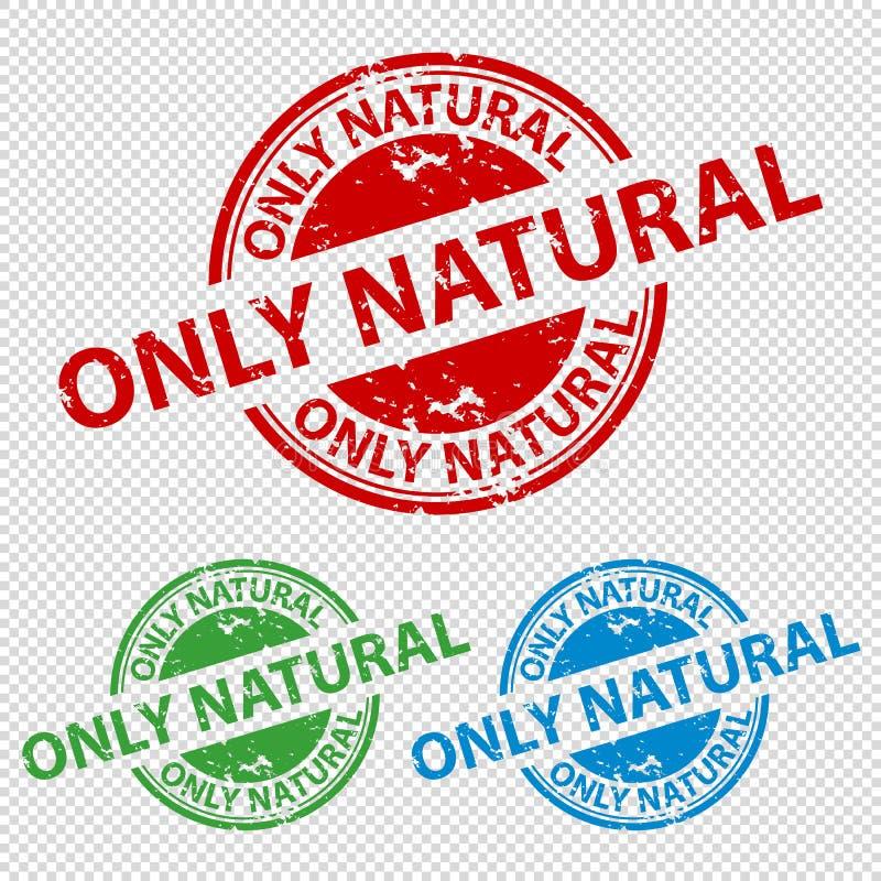 Natural do selo do carimbo de borracha somente - ilustração do vetor - isolado no fundo transparente ilustração royalty free