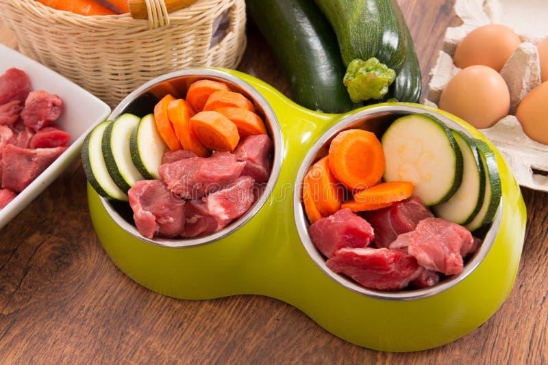 Natural dog food stock image