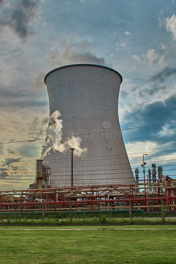 Natural draft wet cooling tower royalty free stock photo