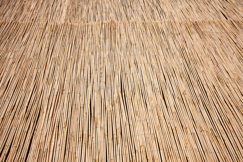 Natural dry thatch. Background texture stock photos