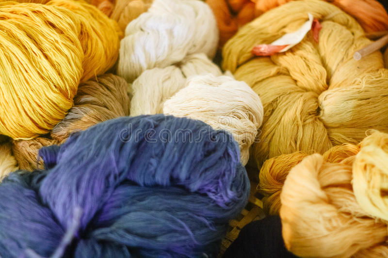 Natural dyes stock images