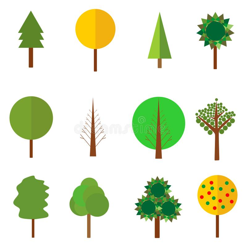 Natural ecology garden background design. Forest icon. Wood symbol. vector illustration