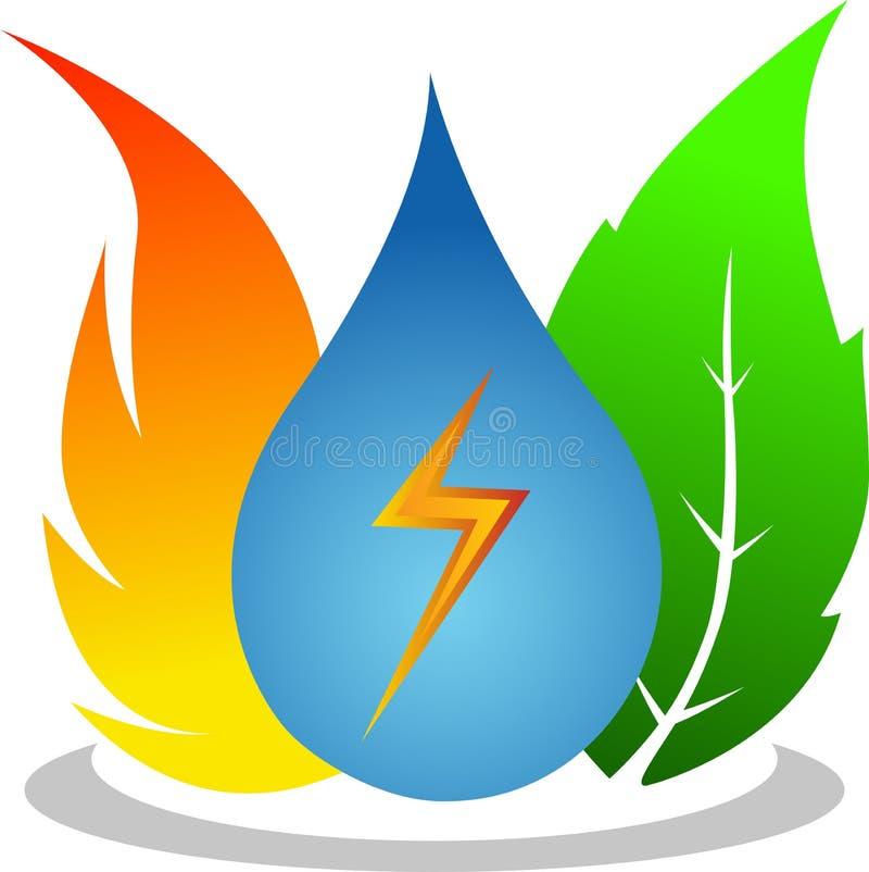 Natural energy. Illustration of natural energy design isolated on white background royalty free illustration