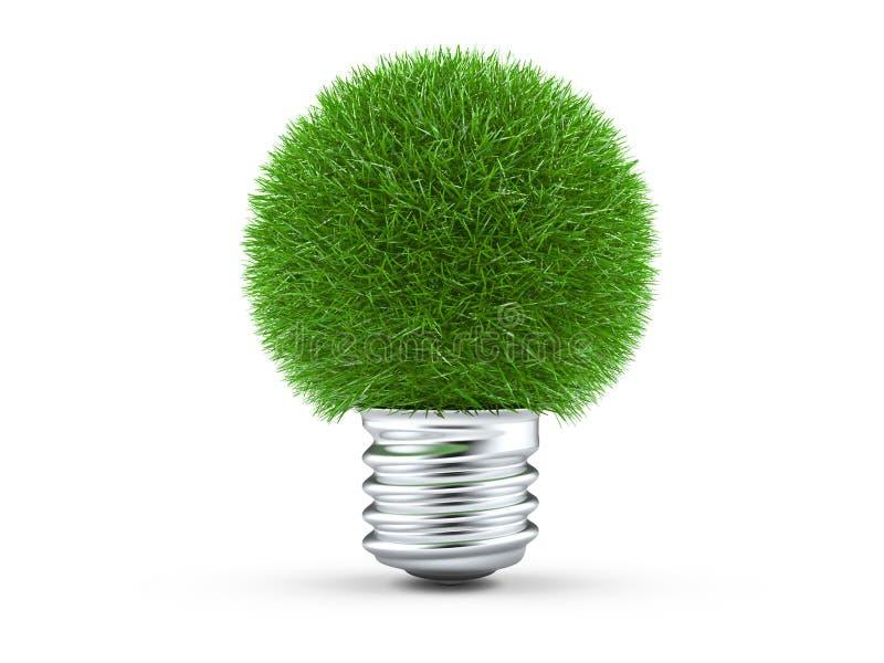 Download Natural Energy Concept, Green Light Bulb Stock Illustration - Image: 23848791