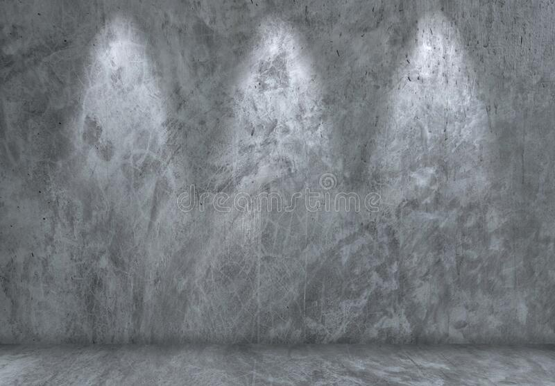 Natural exterior cracked pattern of dark gray cement wall with light for any design background. Natural exterior cracked pattern of dark gray cement wall with stock photo