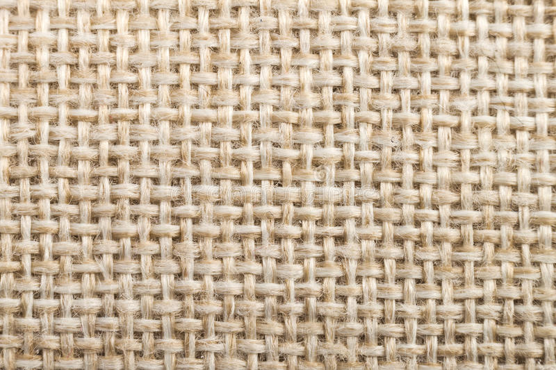 Natural fabric linen texture for design, sackcloth textured. Bro. Wn and yellow canvas background. Cotton royalty free stock photos