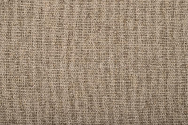 Natural Fabric Sackcloth Background Brown Color. Natural Fabric Sackcloth Background Brown Color Close Up For Design royalty free stock photo