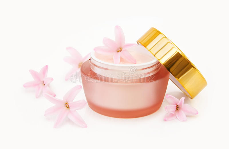 Natural face cream stock photos