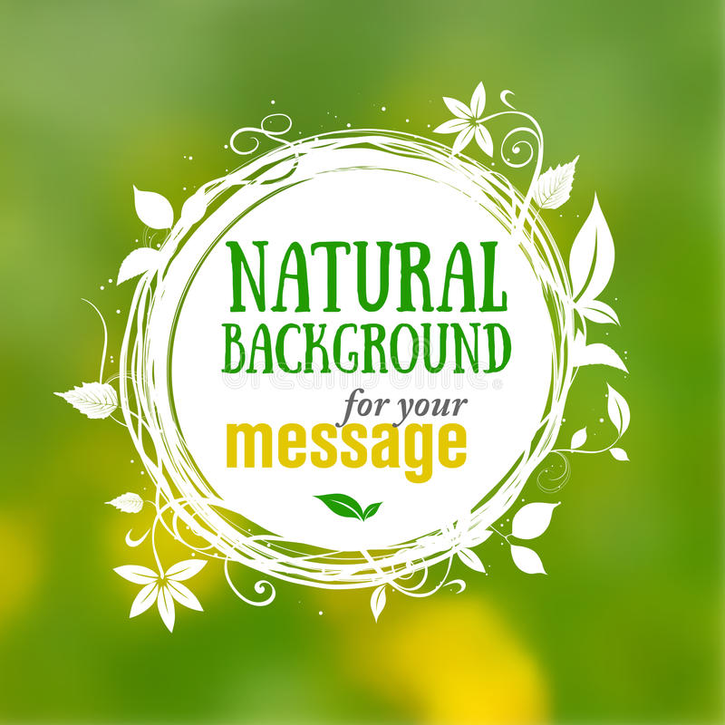 Natural floral background with place for your text vector illustration