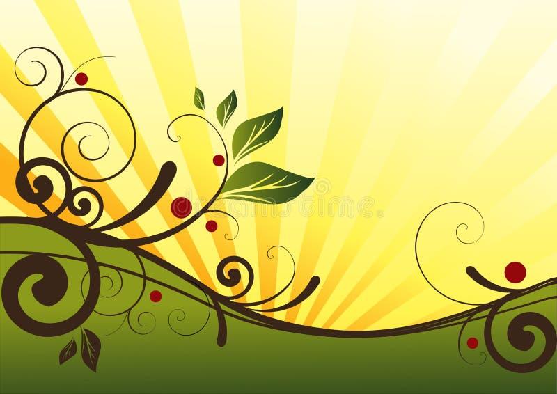 Natural Floral Design stock illustration