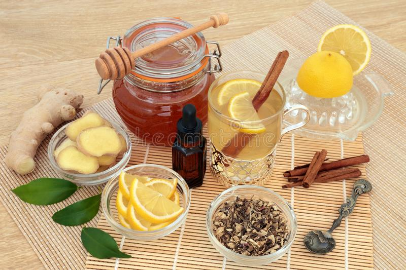 Natural Flu and Cold Remedy royalty free stock photos