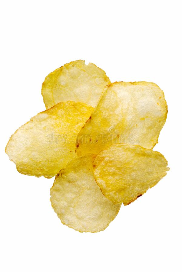 Natural fried potato chips royalty free stock photo