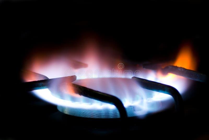 Natural gas burner 2 stock photo