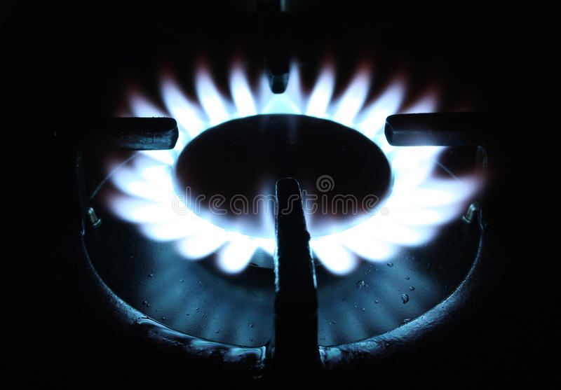 Download Natural gas flame on stove stock photo. Image of details - 19407640