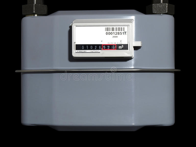 Natural Gas Meter Royalty Free Stock Images
