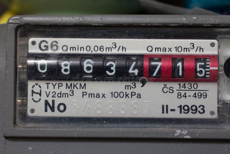 Natural gas meter. Residental meter for natural gas royalty free stock image