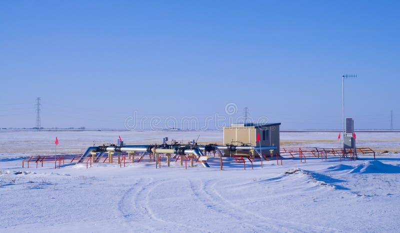 Natural Gas Metering Station & Valve Header Royalty Free Stock Photos