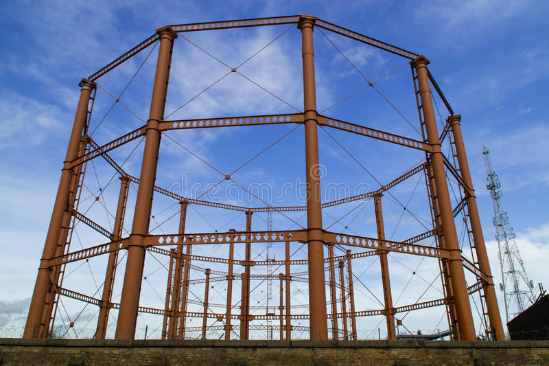 Natural gas tank structure royalty free stock photo