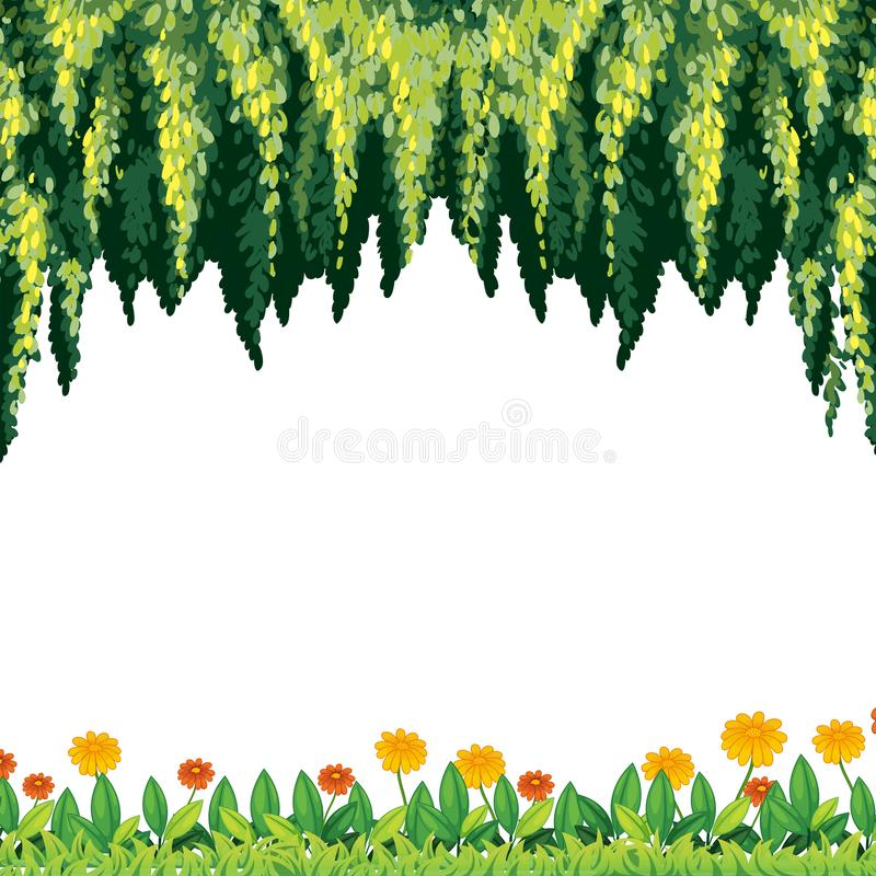 A Natural Green and Flower Template. Illustration vector illustration