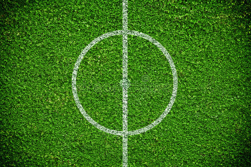 Natural green grass soccer field stock photography