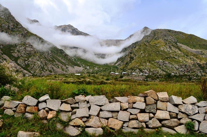 Natural Green Scenery background in Himachal Pradesh, India at the foothills of Himalaya. Natural Green Scenery background in Himachal Pradesh, India at Himalaya stock images