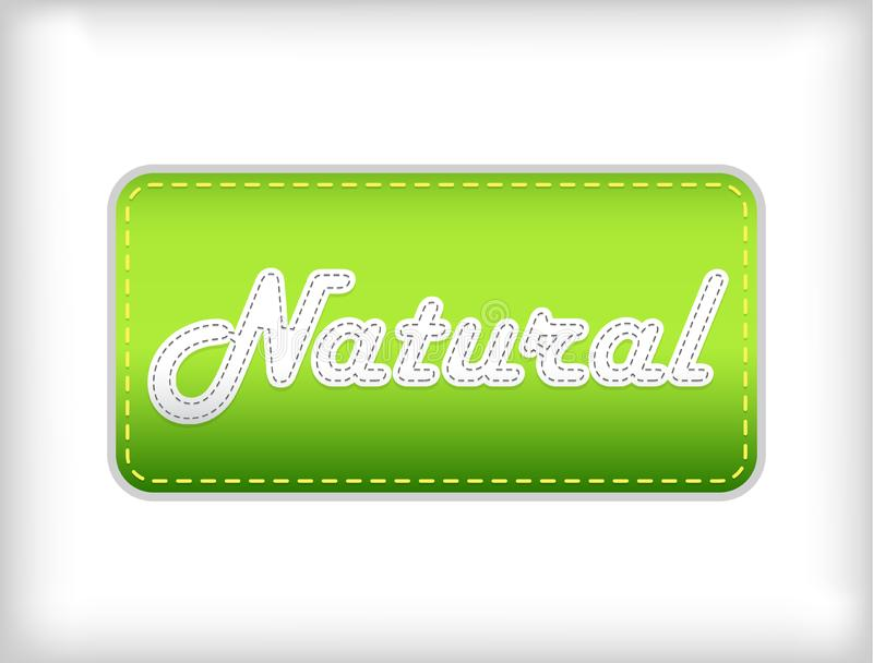 Natural green sticker.