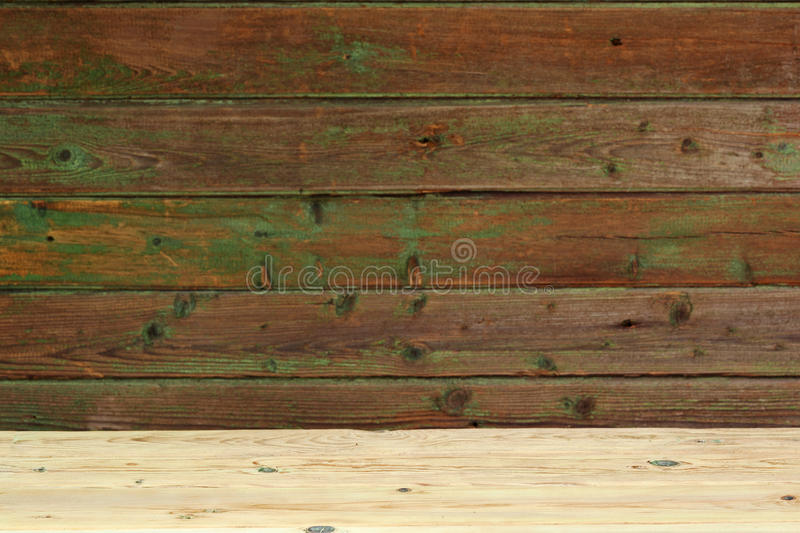 Natural green wooden surface. royalty free stock photos