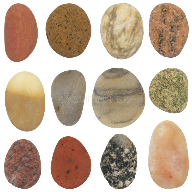 Natural grounded beach stones