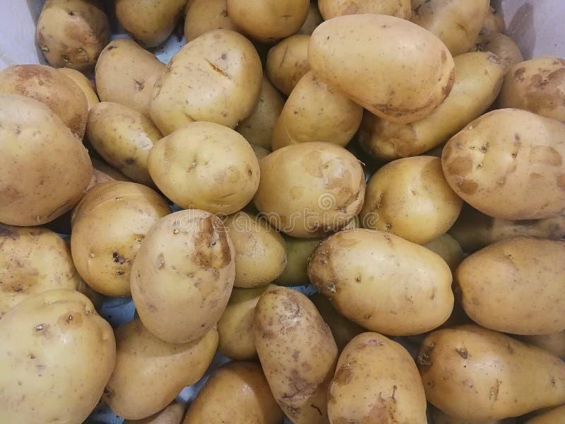 Natural grown Organic Potatoes selling on streets of Bangkok Thailand stock photo