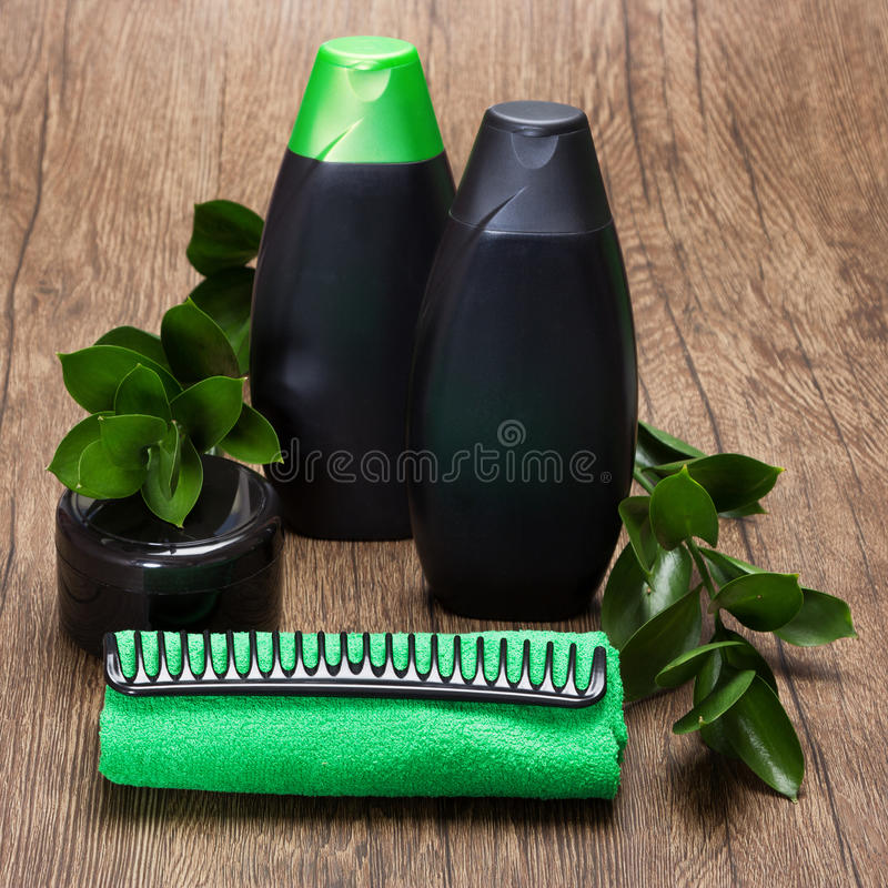 Natural hair care beauty products royalty free stock images